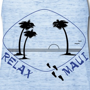 Relax Maui in two color print - Women's Flowy Tank Top by Bella