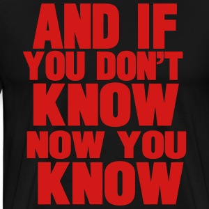 AND IF YOU DON'T KNOW NOW YOU KNOW Hoodies - Men's Premium T-Shirt