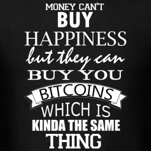 Men's Hoodie Bitcoin Happy Money  - Men's T-Shirt