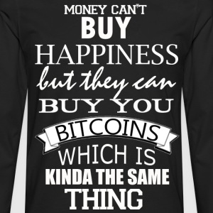 Bitcoin Happy Money Geek - Men's Premium Long Sleeve T-Shirt