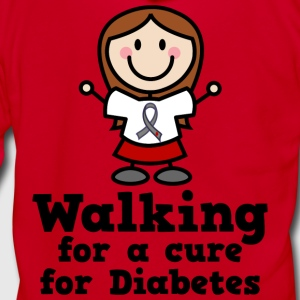 Diabetes Walking For A Cure Women's T-Shirts - Unisex Fleece Zip Hoodie by American Apparel