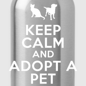 keep_calm_and_adopt_a_pet Women's T-Shirts - Water Bottle