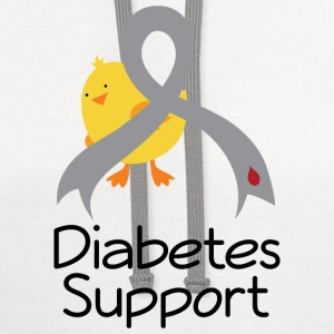 Diabetes Support Chick Women's T-Shirts - Contrast Hoodie