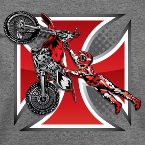 Red Baron Motocross T-Shirts - Women's Wideneck Sweatshirt
