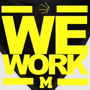 Michigan Basketball We Work March Madness Tshirt - Bandana