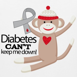 Diabetes Support (Sock Monkey) Kids' Shirts - Men's Premium Tank