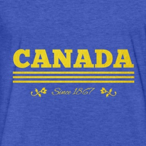 Vintage golden CANADA since 1867 - Fitted Cotton/Poly T-Shirt by Next Level
