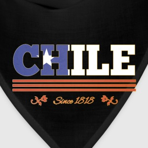 Vintage colorized flag CHILE since 1818 - Bandana