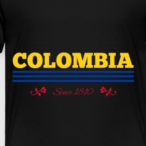 Vintage colorized flag COLOMBIA since 1810 - Toddler Premium T-Shirt