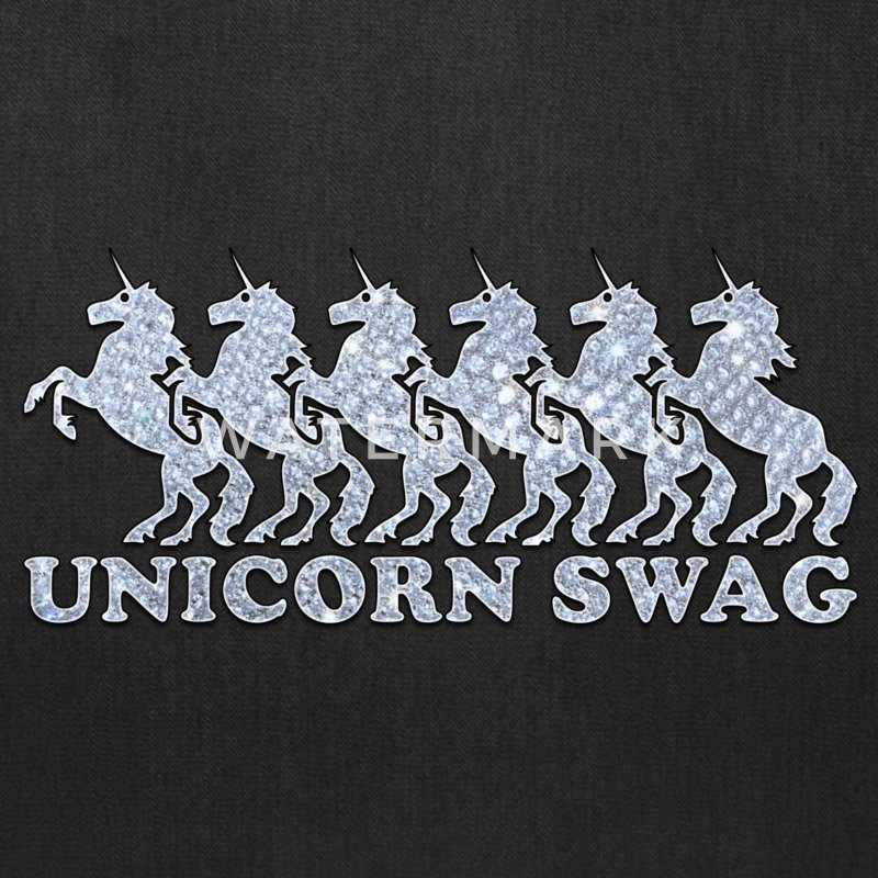 Unicorn Swag w/ Diamonds (Color) Bags & backpacks - Tote Bag