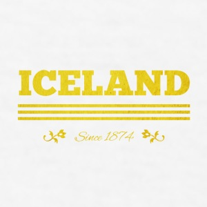 Vintage Golden ICELAND since 1874 - Men's T-Shirt