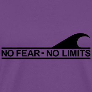 Surf - No fear no limits Hoodies - Men's Premium T-Shirt