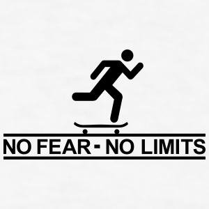 Skate - No fear no limits Bottles & Mugs - Men's T-Shirt