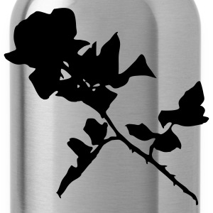 Red Sillhouetted Rose Men - Water Bottle