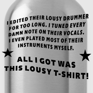 Edited - Tuned - Played T-Shirts - Water Bottle