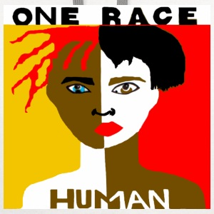 One Race Human Men's T-shirt - Contrast Hoodie