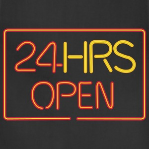 24 HRS neon sign - Adjustable Apron