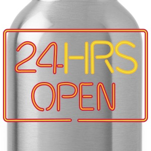 24 HRS neon sign - Water Bottle