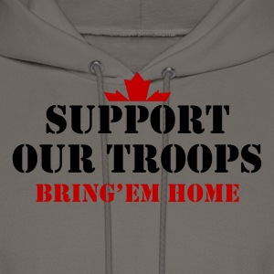 Chocolate Support Our Troops Bring them home T-Shirts - Men's Hoodie