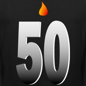 Big Fifty With Candle Flame And Shading--DIGITAL DIRECT PRINT T-Shirts - Men's Premium Tank