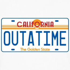 White OUTATIME License Plate T-Shirts - Men's Premium Long Sleeve T-Shirt