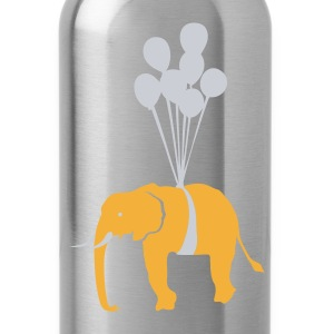 Navy Floating Elephant  Men - Water Bottle