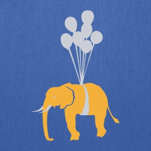 Navy Floating Elephant  Men - Tote Bag