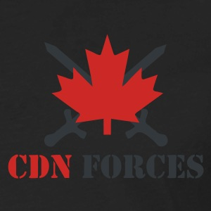 Black Canadian Forces Cross Men - Men's Premium Long Sleeve T-Shirt