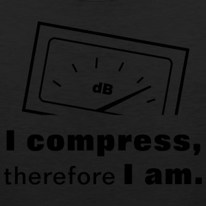I Compress, therefore I am. T-Shirts - Men's Premium Tank