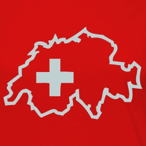 Red Switzerland - Swiss Cross Men - Women's Premium Long Sleeve T-Shirt