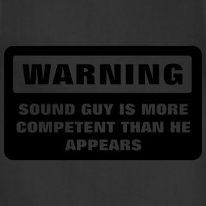 Warning - More Competent T-Shirts - Adjustable Apron
