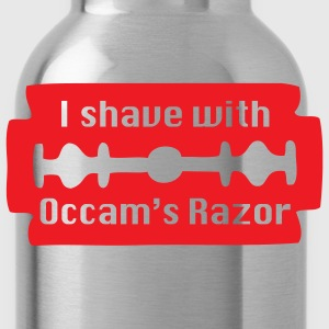 Red I shave with Occam's Razor Men - Water Bottle