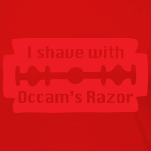Red I shave with Occam's Razor Men - Women's Premium Long Sleeve T-Shirt