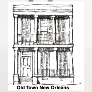 New Orleans Old Time House - Contrast Hoodie