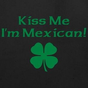 Black Kiss Me I'm Mexican Men - Eco-Friendly Cotton Tote