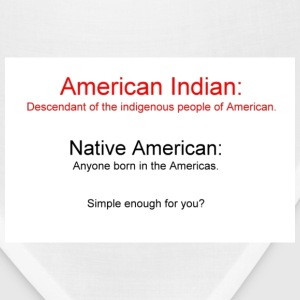 White American Indian vs Native American Men - Bandana
