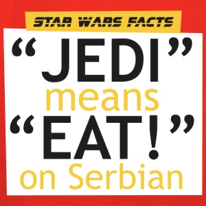 SW facts - Jedi means Eat on Serbian - Kids' Premium Hoodie