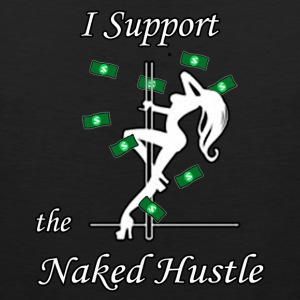 Black Support Naked Hustlers-XXL - Men's Premium Tank