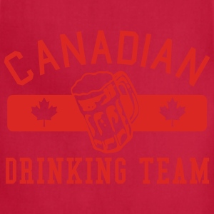 Red Canadian Drinking Team  Men - Adjustable Apron