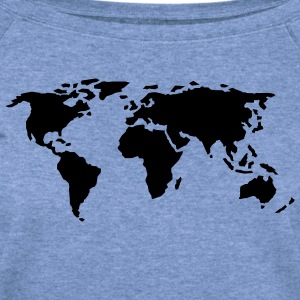 world map - Women's Wideneck Sweatshirt