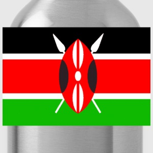 Forest green Kenyan Flag Men - Water Bottle