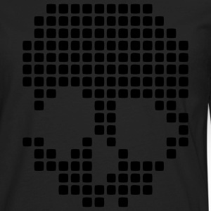 Retro Pixel Skull Dots - Men's Premium Long Sleeve T-Shirt