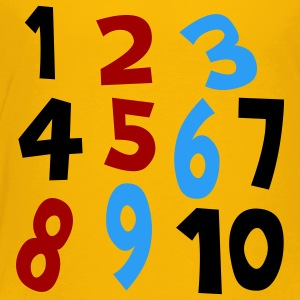 Yellow Numbers 1 - 10 Without Background Kids & Baby - Toddler Premium T-Shirt