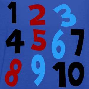 Royal blue Numbers 1 - 10 Without Background Kids & Baby - Women's Flowy Tank Top by Bella