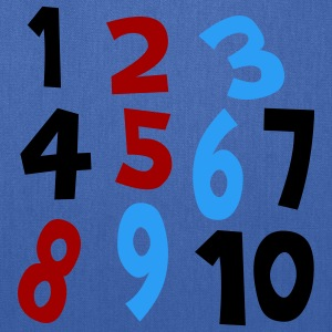 Royal blue Numbers 1 - 10 Without Background Kids & Baby - Tote Bag