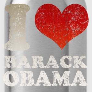 Black I love Barack Obama t shirt Men - Water Bottle