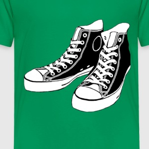 Kelly green Converse Stencil Kids Shirts - Toddler Premium T-Shirt