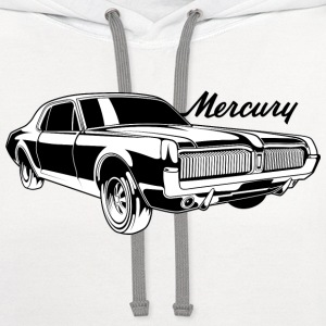 White auto_mercury_cougar_bw1 T-Shirts (Short sleeve) - Contrast Hoodie