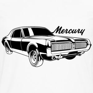 White auto_mercury_cougar_bw1 T-Shirts (Short sleeve) - Men's Premium Long Sleeve T-Shirt