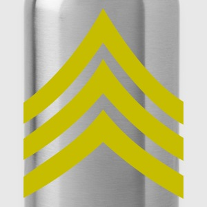 army rank sergeant badge patch - Water Bottle